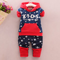 New 2017 Baby Boy Clothes Infant Clothes Cotton Cowboy Star Hooded Long Sleeve T-shirt + Pants 2PCS Suit Kids Clothing Sets