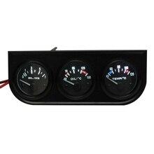 """3 Car Kit Medidor de Ponteiro-Temperatura do Óleo/Temperatura Da Água/Óleo de Pressão-2 """"52 MM LED luz"""