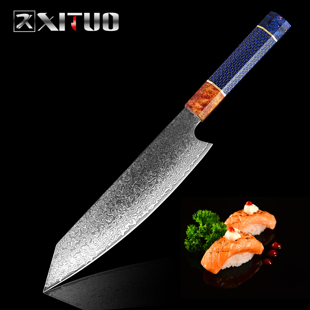 XITUO Damascus Steel 67-layer Japanese Chef Knife 8 Inch Kiritsuke gyuto Fashion High-grade Sharp Meat Cleaver Kitchen tools NewXITUO Damascus Steel 67-layer Japanese Chef Knife 8 Inch Kiritsuke gyuto Fashion High-grade Sharp Meat Cleaver Kitchen tools New