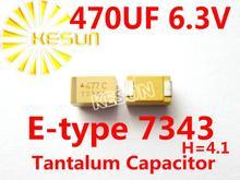 477J 470 МКФ 6.3 В E тип 7343 H 2917 SMD Танталовый Конденсатор Разъем TAJE477K006RNJ x100PCS Бесплатная Доставка