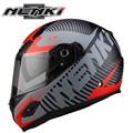 NENKI Matt Fiberglass Motorcycle Full Face Helmet Capacete da Motocicleta Cascos Para Moto Casque Kask 863-3 Helm Racing Helmets
