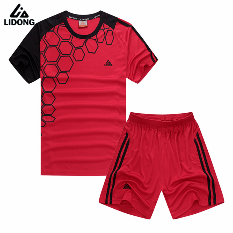 LIDONG Men kids Boys Girls Child training football 2017 jerseys kit sports soccer jerseys tennis shirts shorts maillot de foot