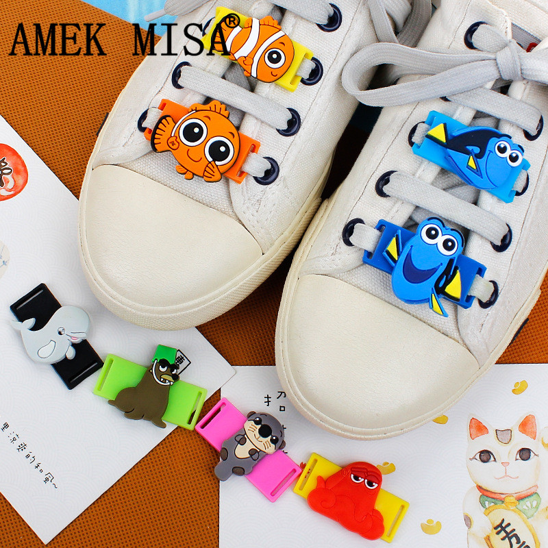 8/16 Pcs A Set Shoes Decorations PVC Cartoon Finding Nemo Casual Shoes Accessories Novelty Sports Shoes Shoelace Charms M436