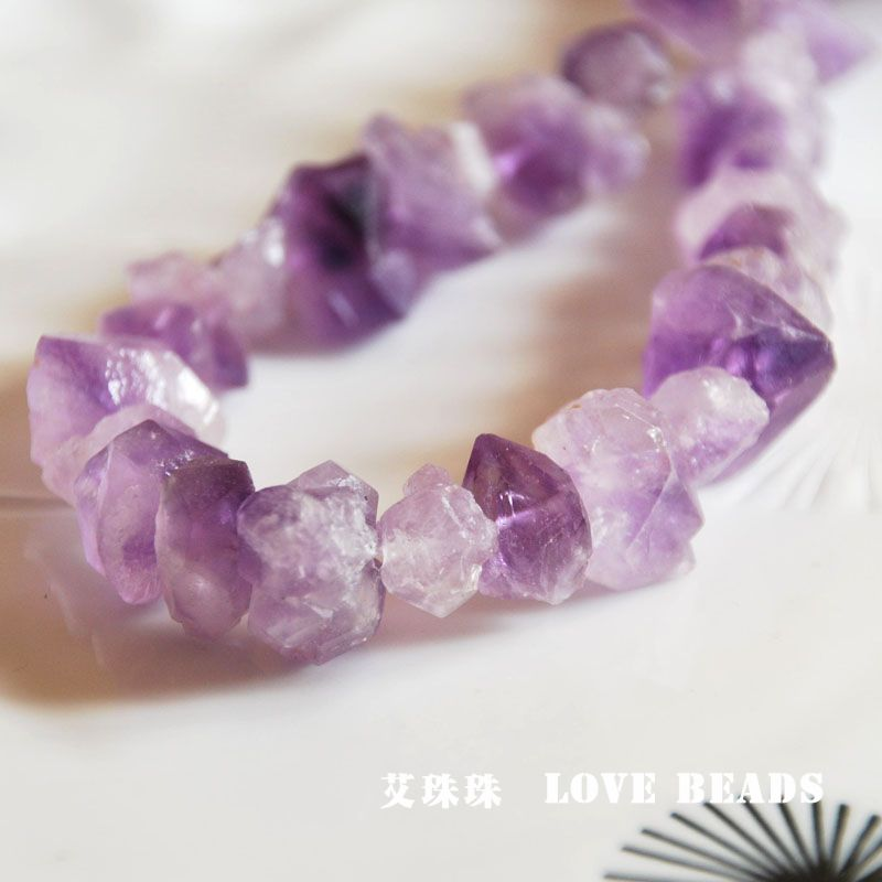 natural purple raw crystal nuggets DIY materials bracelet necklace earrings making jewelry craft findings handmade materials