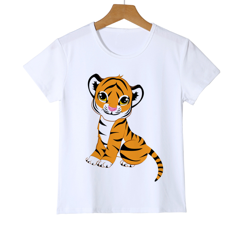 3d T-Shirt crewneck print t shirt Teen girls boys clothing Tiger leopard baby girl t-shirt summer style fashion tops tees Z33-5