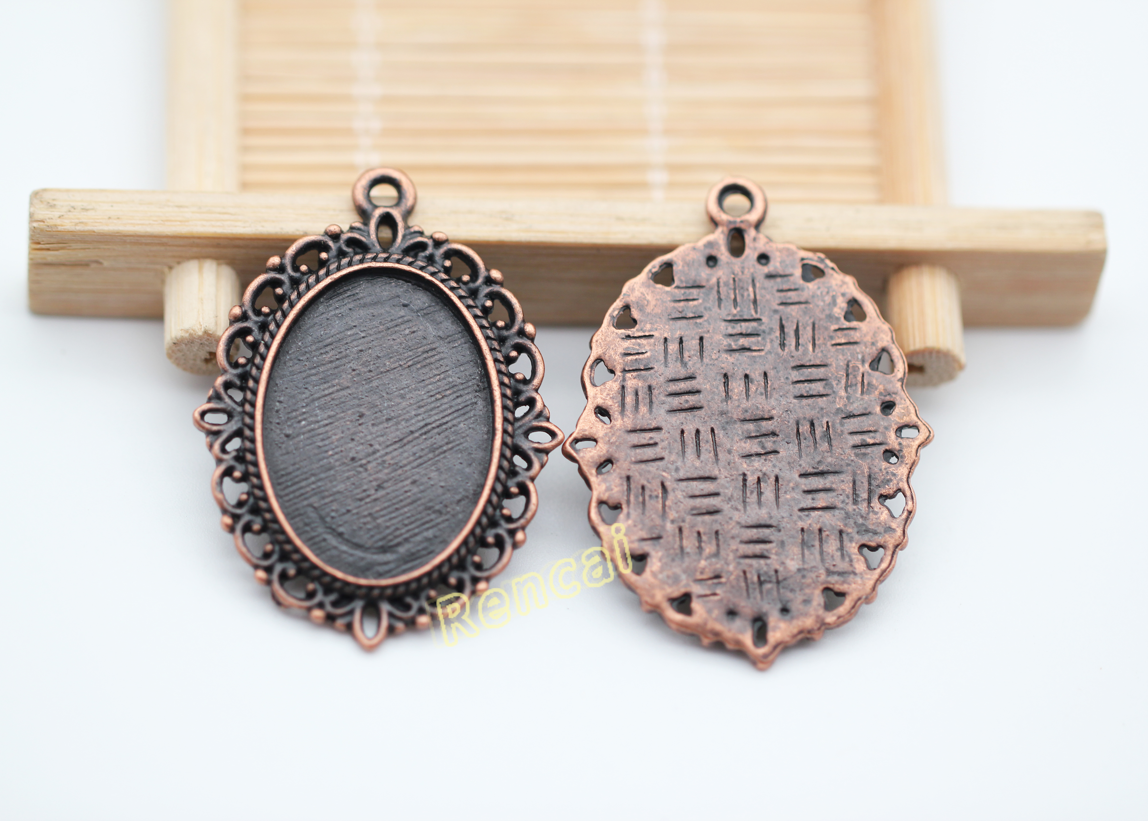 25mm DIY Jewelry Making Necklace Pendant Setting Cabochon Base Tray Bezel Blank
