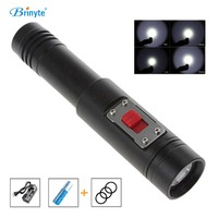 Brinyte DIV12 Professional Scuba Diving Flashlight Cree XM L2 Diver Flashlight Torch with 18650 Battery and Charger