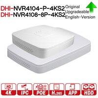 DH 4 К POE NVR NVR4104 P 4KS2 NVR4108 8P 4KS2 с 4/8ch PoE h.265 видео Регистраторы Поддержка ONVIF 2,4 SDK CGI с dahua логотип