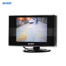 DIYKIT 3.5 Inch Color TFT LCD Car Rear View Car Monitor Parking Rearview Monitor with 2CH Video Input