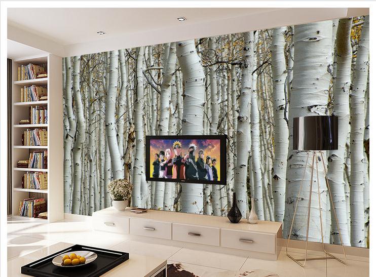 Popular birch tree wallpaper buy cheap birch tree - Decor papier peint mural ...