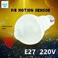 LED PIR Motion Sensor Bulb E27 220V Led Lamp 5W 7W 9W Auto Smart Led PIR Infrared Body Sensor Lamp Home Lighting Garage Stairs