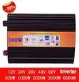 3000w inverter reine sinus welle max 6000w power DC12V/24 V/48 V/110 V zu AC100V 240V 50Hz/60Hz Sinus falownik|power jet|power inverter 5000wpower and reset switch -