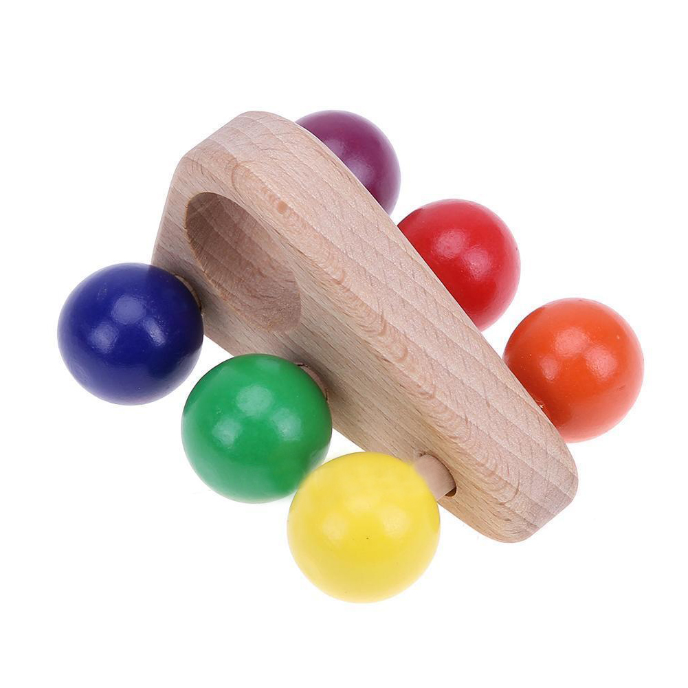 HOT SALE Kids Wooden Grasping Toy Push Pull Car Wood