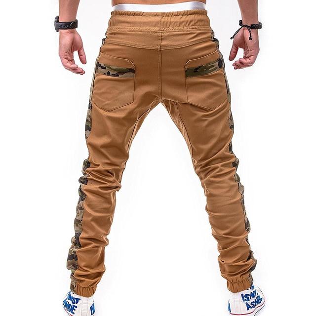 Camo Stitching Pants Hip-Hop Sweatpants 2