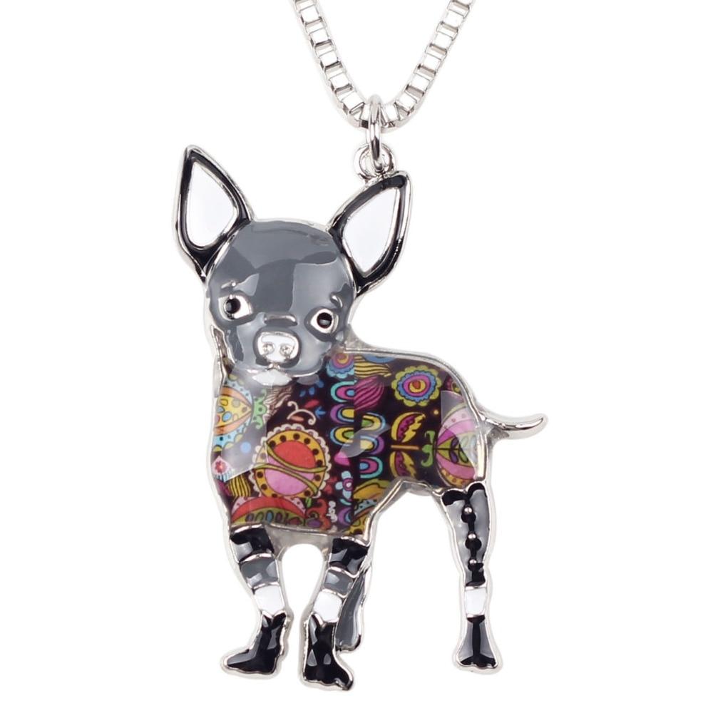 Bonsny Maxi Statement Metal Aloy Chihuahuas Dog Choker Boyunbağı - Moda zərgərlik - Fotoqrafiya 4