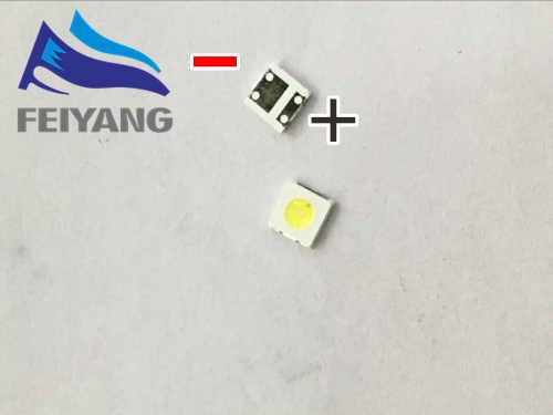 100 Chiếc Cho WOOREE UNI Đèn Nền LED LCD Đính Hạt 3 V 1 W 3535 LED SMD Đèn Đính Hạt 3535 trắng Lạnh WM35E1F-YR07-eB