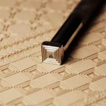 Diy ручной инструмент для кожи резьбой и печати Геометрические узоры engaved штамп плесень