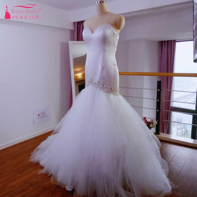 Sirène à plusieurs niveaux jupes robes de mariée TuTu cristal mariage robes de mariée robe de mariée africaine fille noire mariage Gelinlink