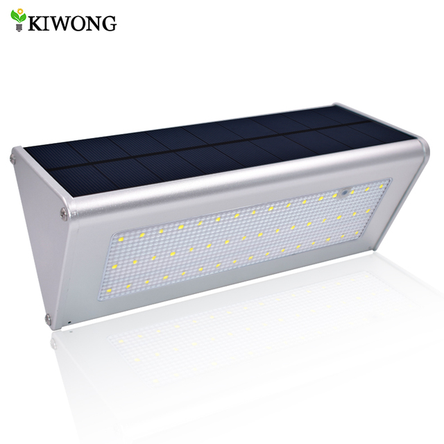 Upgraded Radar Motion Sensor 48LEDS 800lm Aluminum Solar Lamp Garden Home  Outdoor Wall Light Waterproof Lighting