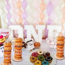 PATIMATE Donut Party Decorations Wall Stand Board Birthday Supplies Grow Up Baby Shower Decors for Kids