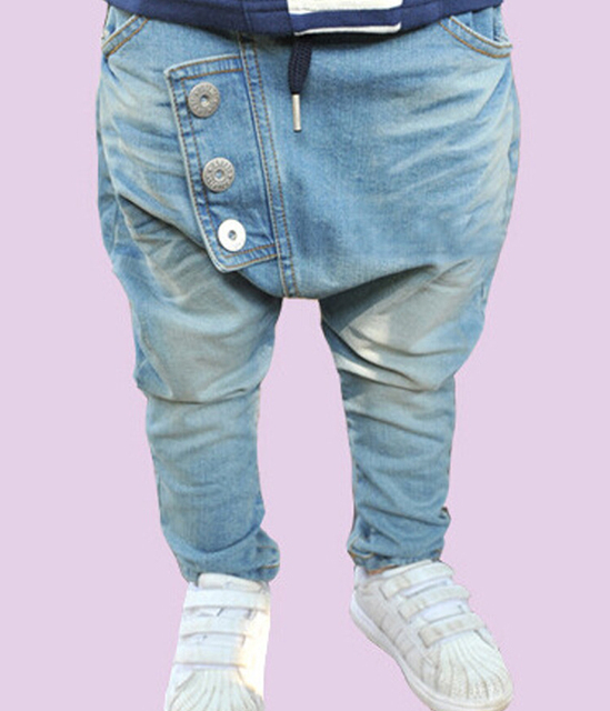 fashion new baby children's clothing boys denim pants Button jeans trousers free shipping