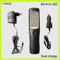 Frete grátis 1 pacote 3 em 1 recarregável 28 + 4 + 3 LED luz de trabalho LED de luz de carro da estrada de emergência