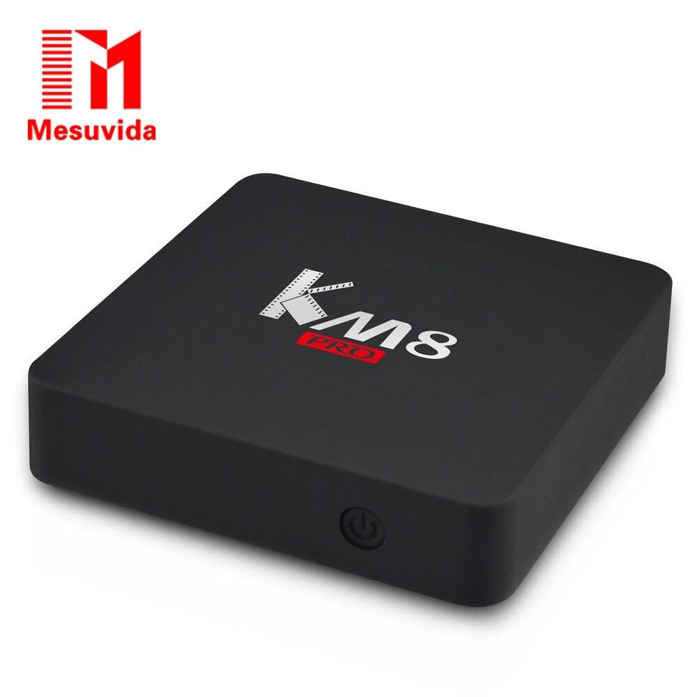 Mesuvida KM8 Pro Smart TV Box font b Android b font 6 0 TV Box Amlogic