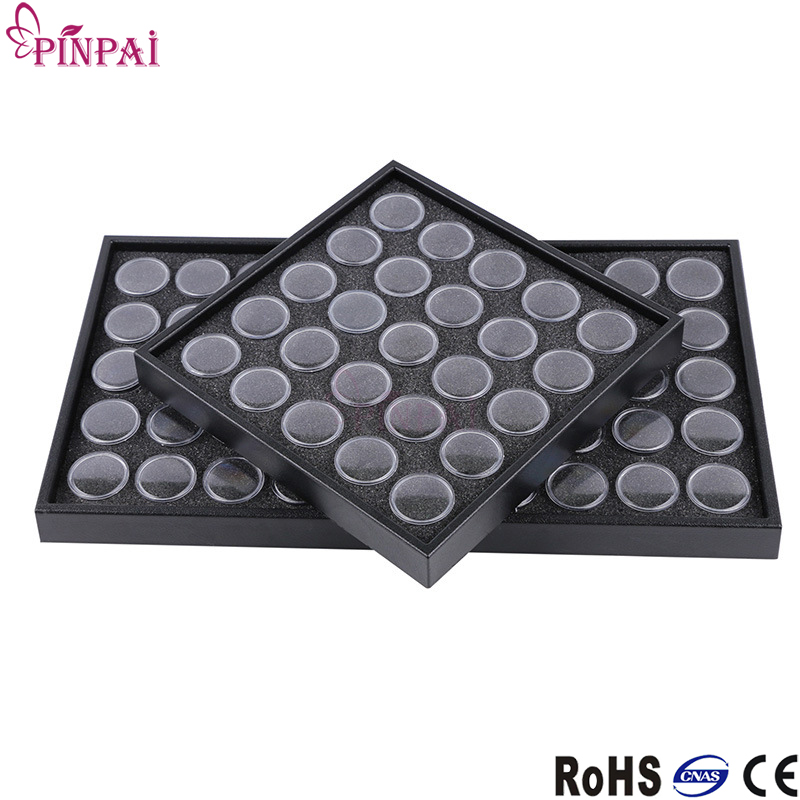 PinPai Dry Flowers Cells 1 Piece 25/50 Grids Empty Storage Box for Nail Art Rhinestones Collections DIY Makeup Tools Accessories jinbei em 35x140 grids soft box