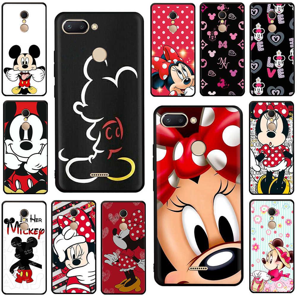 น่ารัก Mickey Minnie เมาส์ Tpu ซิลิโคนสำหรับ Redmi 4A X 5 6 หมายเหตุ 5 6 7 pro