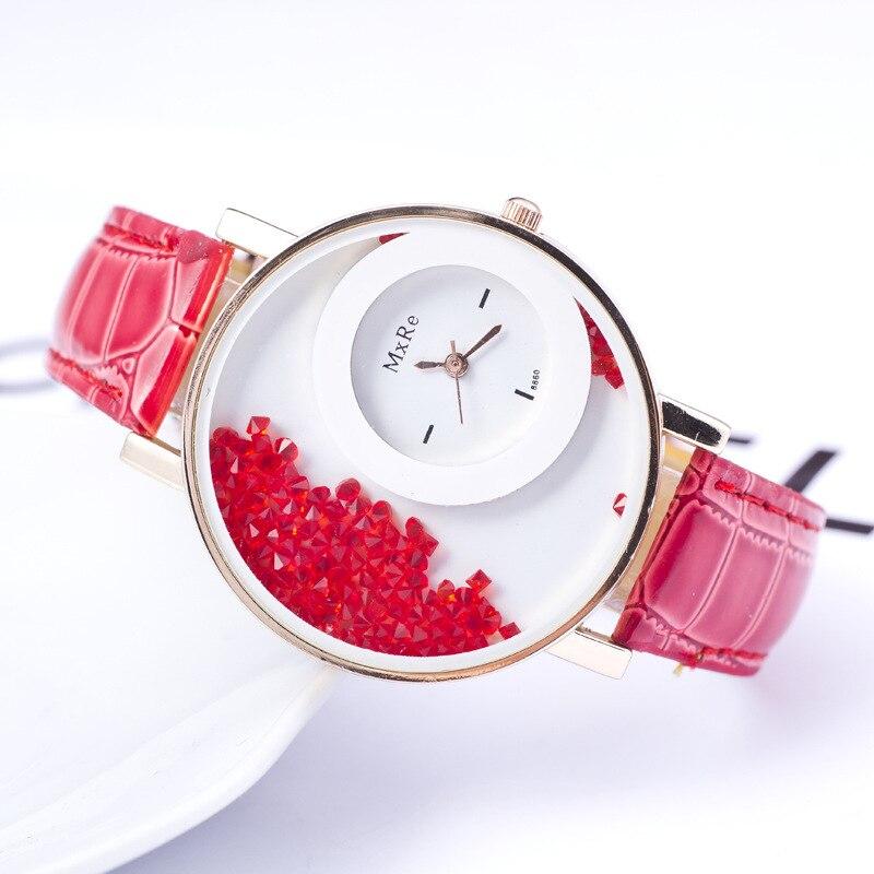 100 pcs/lot En Gros Unisexe Cristal Pu Bracelet En Cuir Montres Femmes Montre À Quartz En Gros Genève Montre De Mode