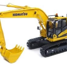 1:50 Масштаб Komatsu PC200i-10 гидравлический экскаватор Инженерная техника строительная игрушка литая модель для украшения, подарок UH8107