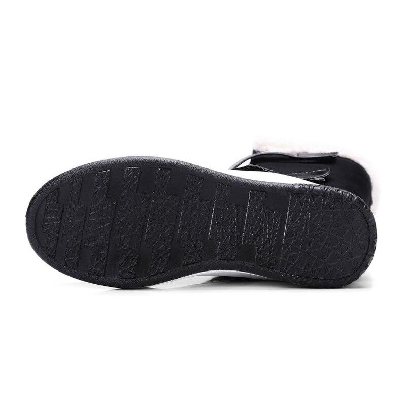 marron Chaude Bottes E Neige Jouets De Crochet Noir Qualité mollet Marque Mode Hiver Boucle Plat Femmes Haute Pour Mot Mi Et Chaussures 0qB1qwf