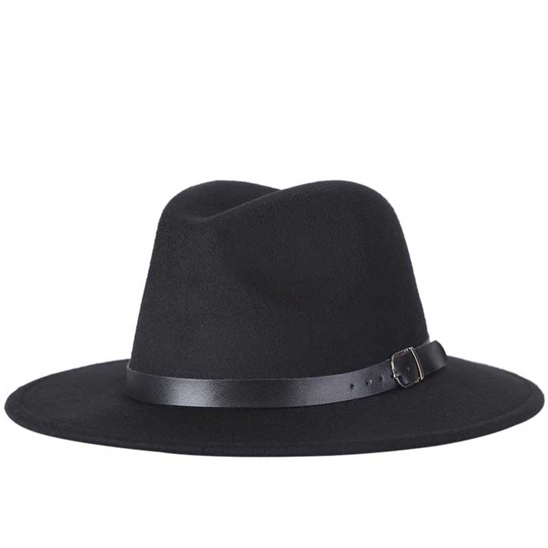 2017 free shipping 2017 new Fashion men fedoras women's fashion jazz hat summer spring black woolen blend cap outdoor casual hat