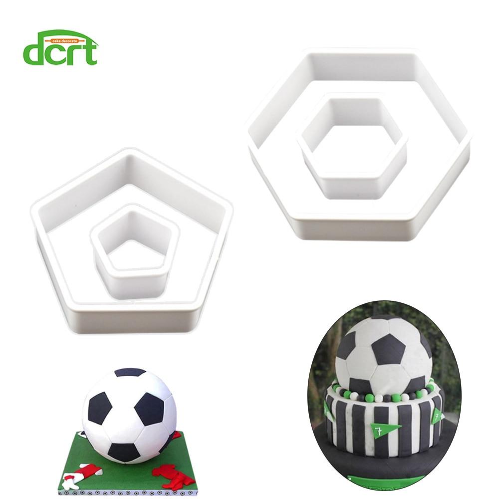 4pcs Football Cookie Cutter Set Plastic Biscuit Mould Fondant Cake Decor IT