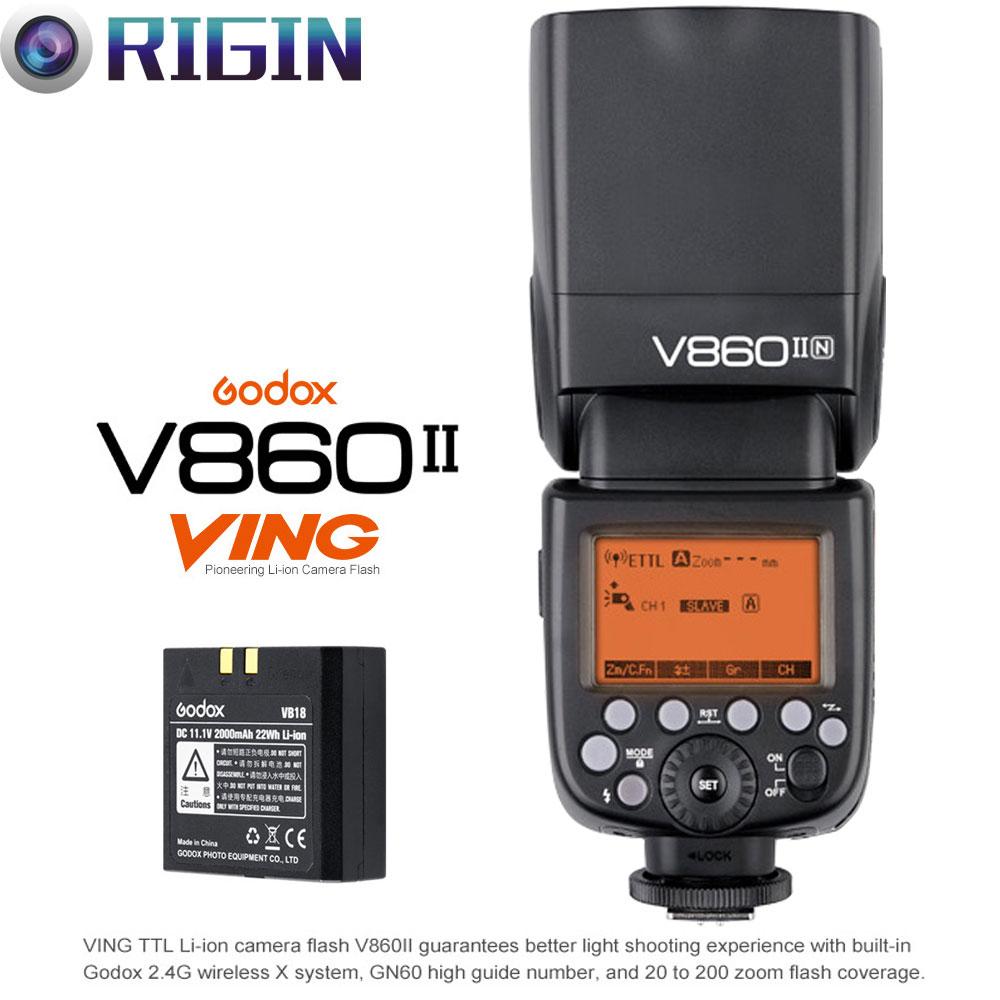 Godox V860II-C / V860II-N / V860II-S KIT TTL Kamera Flash 2.4G Simsiz - Kamera və foto - Fotoqrafiya 2