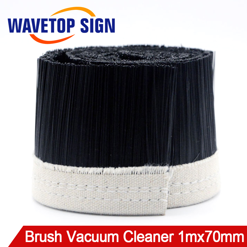 цена на 1M x 70mm Brush Vacuum Cleaner Engraving Machine Dust Cover For CNC Router For Spindle Motor.