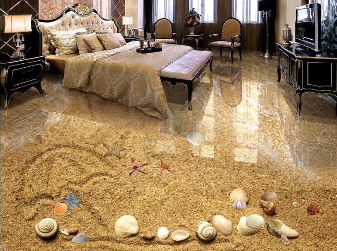 3D peinture au sol papier peint pour murs 3 D personnaliser plancher Photo papier peint plage papier peint décor à la maison