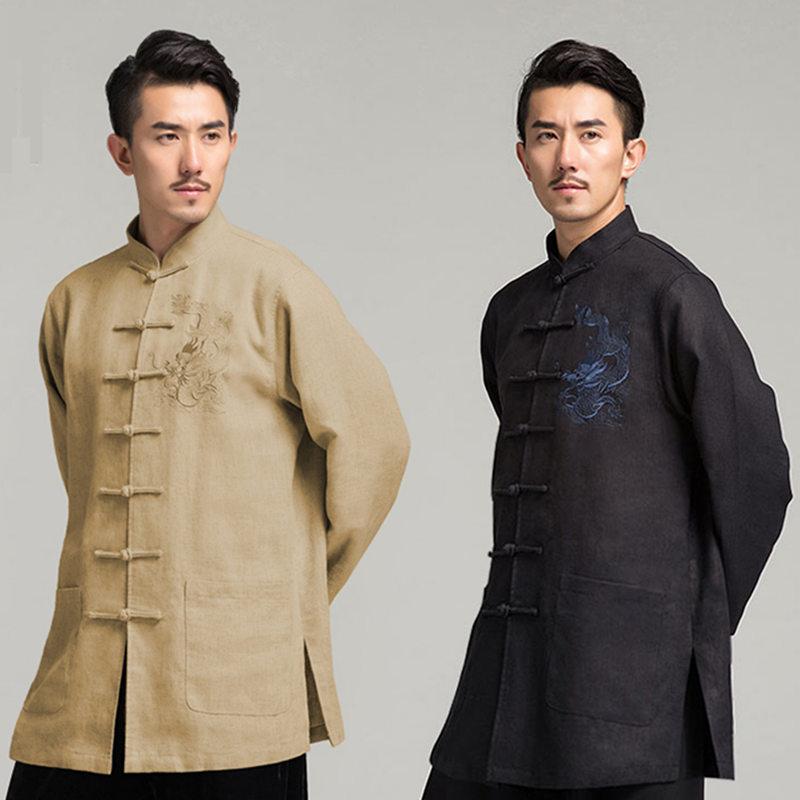 2Pcs Men/'s Chinese Tang Tops Kung Fu Suit Wing Chun Martial Art Uniform Costume