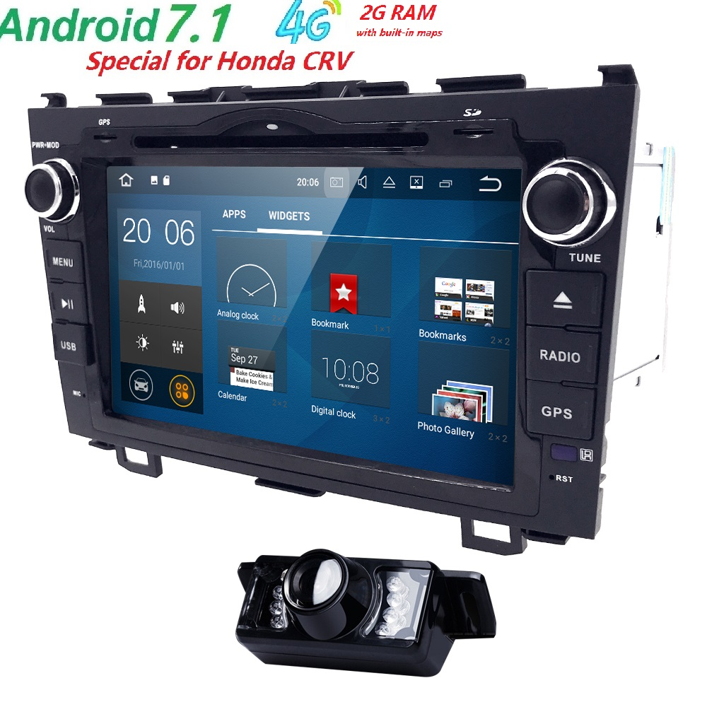 fit Honda CRV CR-V in Dash Hd Capacitive Touch Screen Car DVD Player GPS Navigation System Radio Autoradio Support BT/sd/usb/SWC