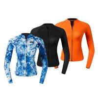 Comprar MagiDeal mujeres traje de neopreno superior 2mm chaqueta caliente camisa de manga larga con cremallera frontal