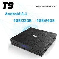 T9 Smart TV Box Android 8.1 SUNVELL T9 4GB 32GB 64GB Rockchip RK3328 1080P H.265 4K Netflix YouTube PK H96 MAX Set top box