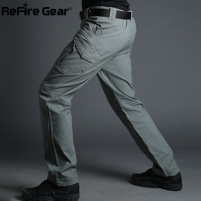 City Tactical Cargo Pants Combat SWAT Army Military Cotton Many Pockets Stretch Flexible Casual Trousers XXXL 4