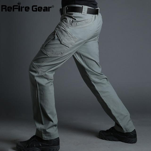 IX9 City Tactical Cargo Pants Men Combat SWAT Army Military Pants Cotton Many Pockets Stretch Flexible Man Casual Trousers XXXL 5