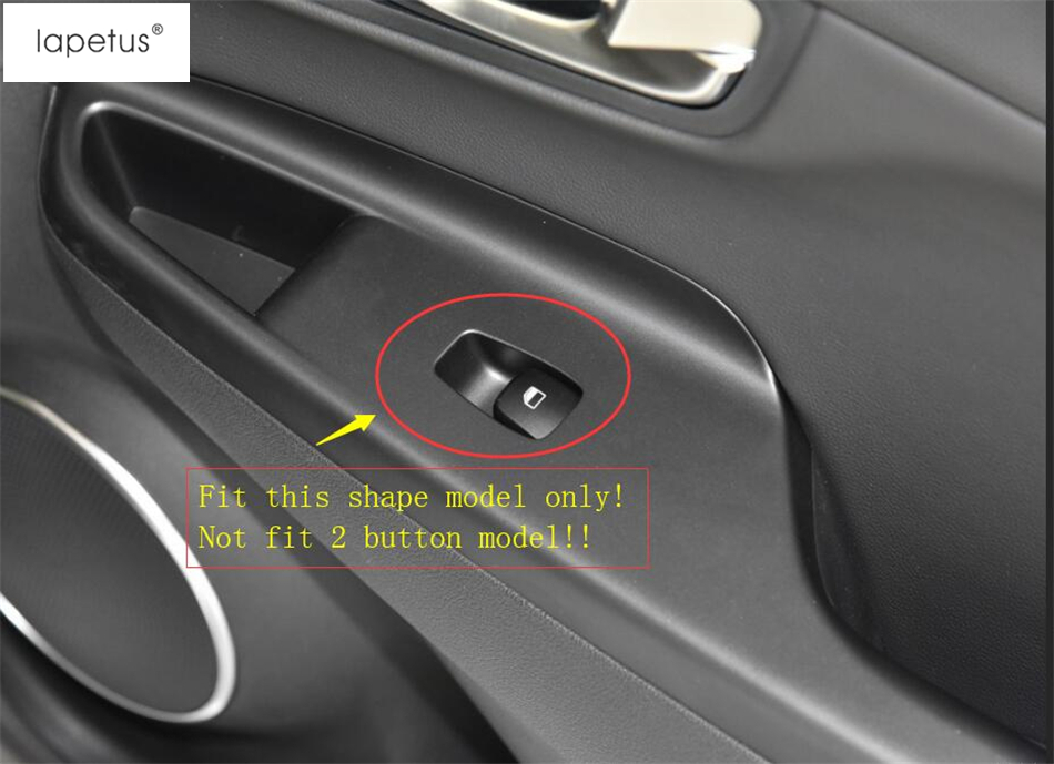 Lapetus Accessories Fit For Hyundai Kona 2018 2019 Inner Door Handle Holder Window Lift Button Switch Molding Cover Kit Trim in Interior Mouldings from Automobiles Motorcycles