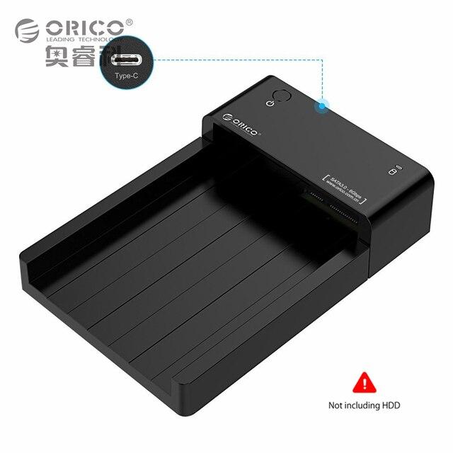 ORICO Инструмент Бесплатный Тип C HDD Корпус USB 3.1 для SATA 2.5 и 3.5-дюймовый Внешний Жесткий Диск Док-Станция Поддержка UASP и 8 ТБ Диски