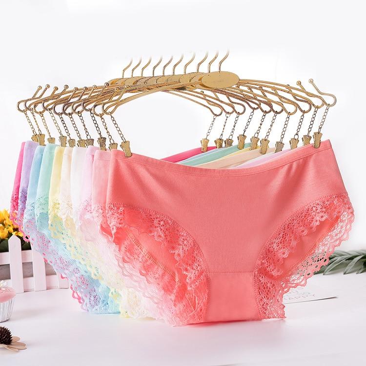 HW018 women's underwear bamboo fiber sexy lingerie lace briefs female underpants intimates breathable women's panties calcinhas