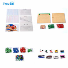 Baby Toy Montessori Multiplication Division Beads Board Addition Subtraction Strip Stamp Game Math Beads Brinquedos Juguetes(China)