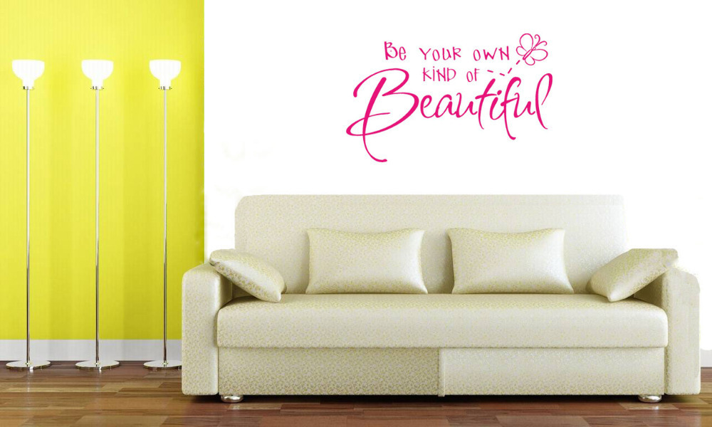 Be your own kind of beautiful wall decals vinyl stickers - Beautiful wall stickers for living room ...