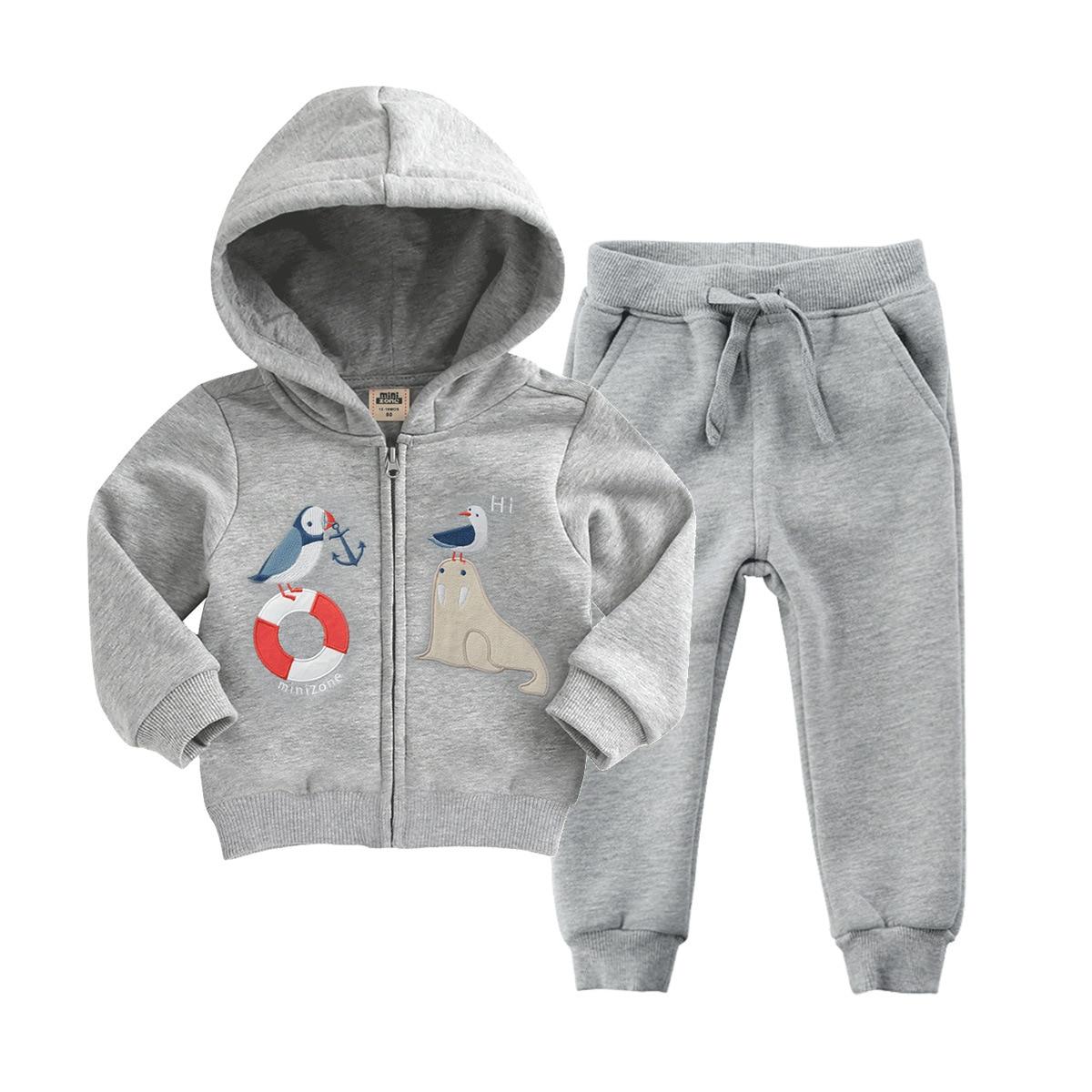 все цены на Orangemon Offical Store Newborn Baby Boys Autumn Clothing 2 Pc/set Girls Velvet Outfit Long Sleeved Hoodie Jacket + Pants Suit
