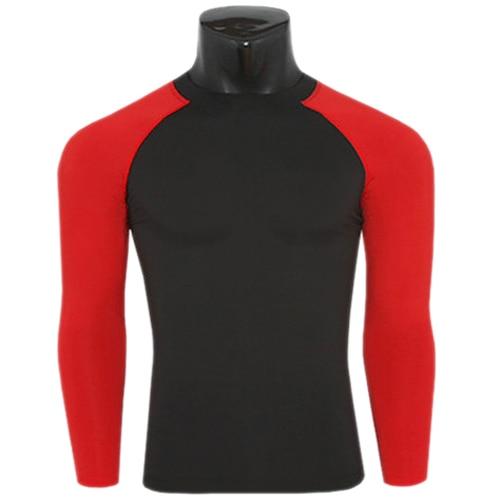 2015 패치 워크 압축베이스 레이어 Mens Fitness T Shirts 긴 소매 스킨 기어 Thermal Tops Tee M-XXL